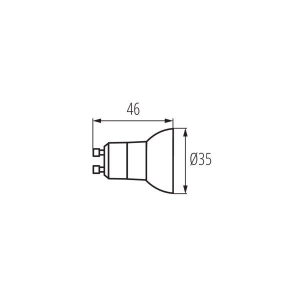 Kanlux® REMI GU10 LED Leuchtmittel, Strahler warmweiß