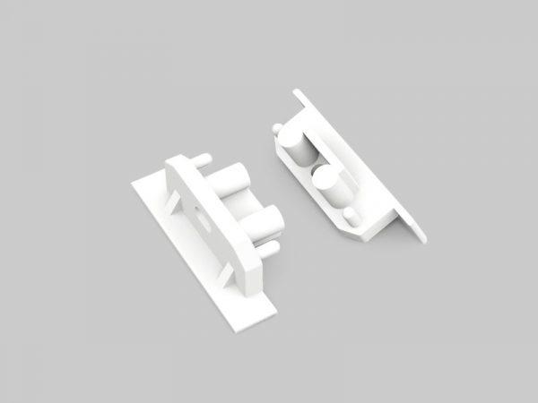 LED Profil weiß Endkappen