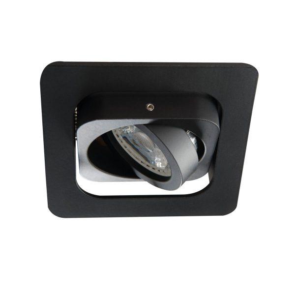 Einbaurahen schwarz mit LED-Leuchtmittel