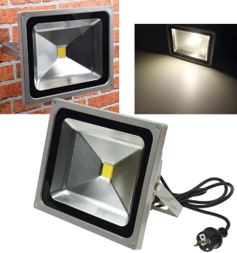 50 Watt LED Fluter mit Stecker Chilitec®