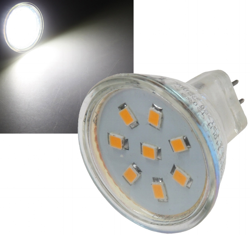 MR11 GU4 12V LED 2W = 160 Lumen