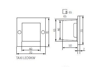 Abmessungen LED Treppenleuchte