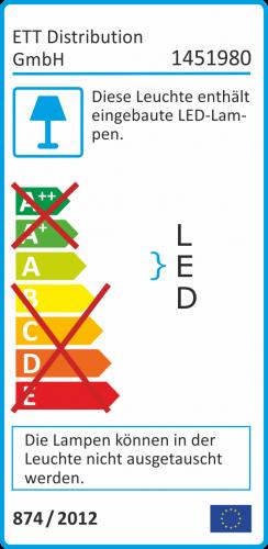 Energielabel 100W LED Strahler 6700 Lumen