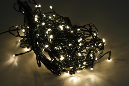 Lichterkette / Vorhang 160 LEDs warmweiss für Innen und Außen