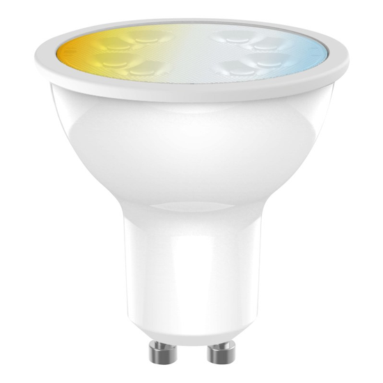 Smart Home Weißstufen GU10 LED Glühbirne mit Fernbedienung