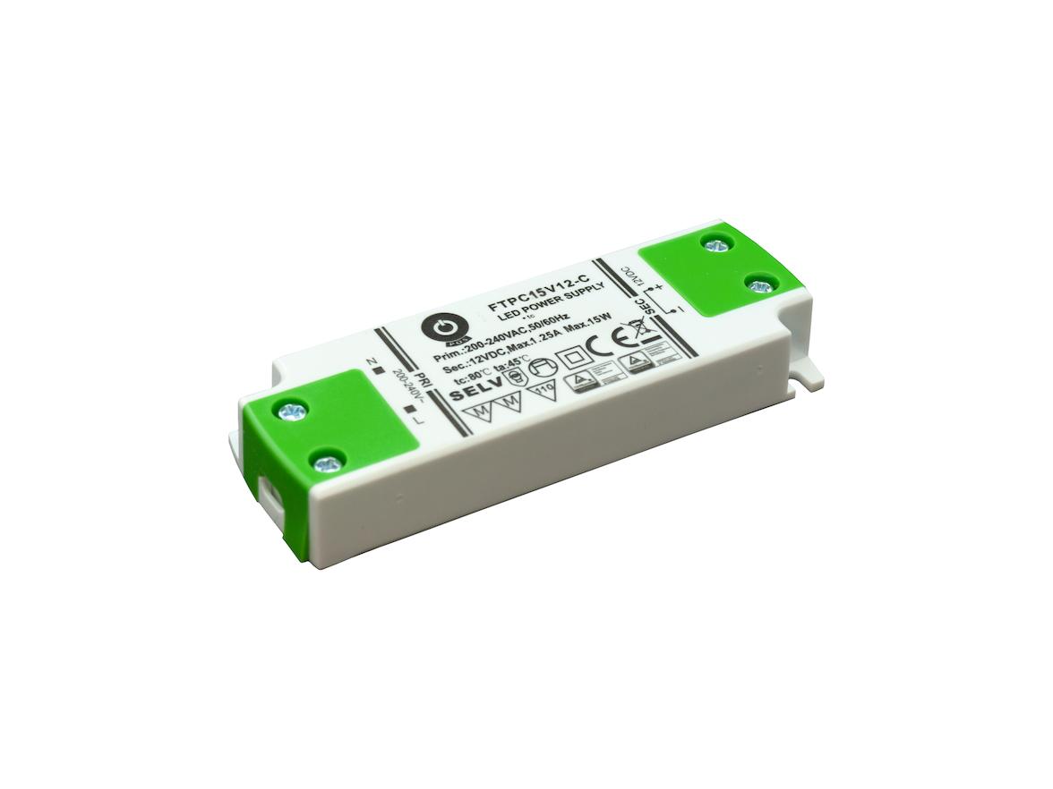 15W LED Trafo 12V flach, klein für Möbeleinbau
