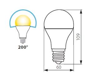 200° LED Birne tageslichtweiss