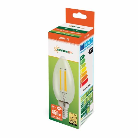 LED Kerze E14 300 Grad rundum