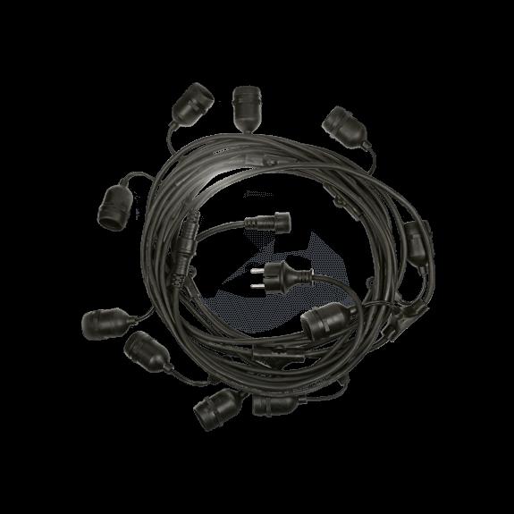 10er LED Lichterkette E27 austauschbar