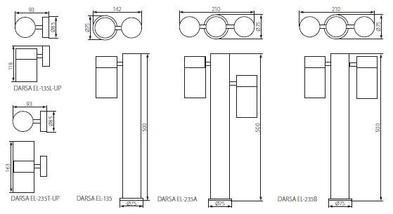Abmessungen Kanlux DARSA EL-235T-UP