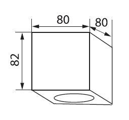 Technische Zeichnung LED Deckenleuchte einflammig Duce