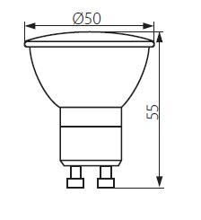 Abmessungen LED Strahler GU10