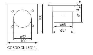 Abmessungen LED Bodeneinbaustrahler quadratisch