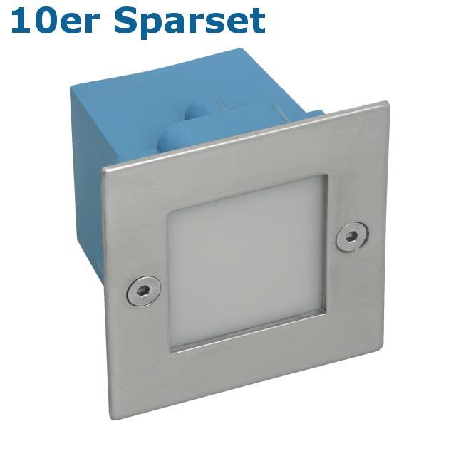 10er Set LED Wandeinbauleuchte