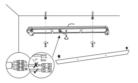 Doppelhalterung für 2x 150cm 1500mm LED Röhren