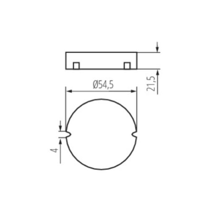 Skizze LED Dimmer für Taster 8-105 Watt