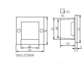 Abmessungen LED Wandeinbaustrahler