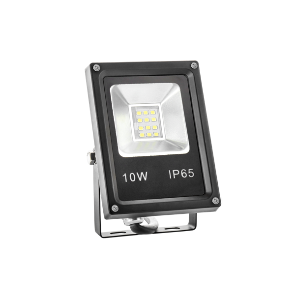 10W LED Fluter IP65 SLIM weiss / warmweiss