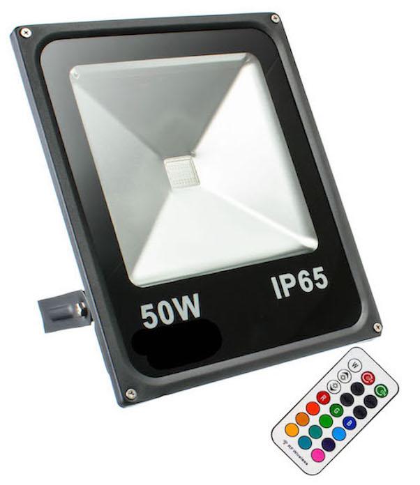 50W RGB Fluter Slim mit RF Fernbedienung