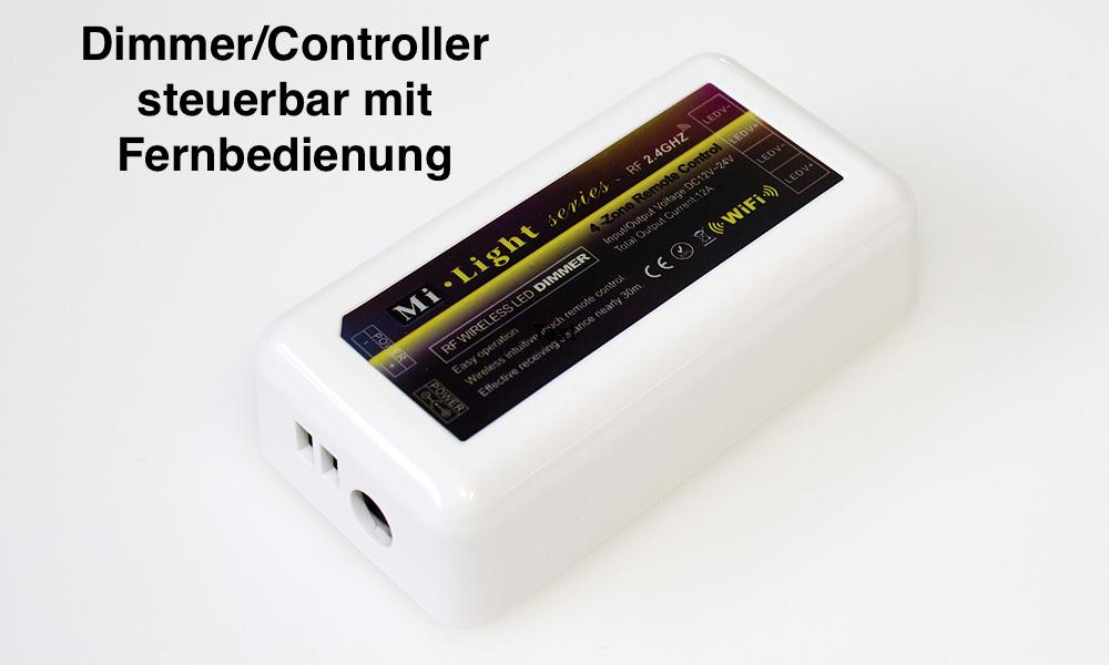 Funk Dimmer 12V - 24V - programmierbarer LED Controller