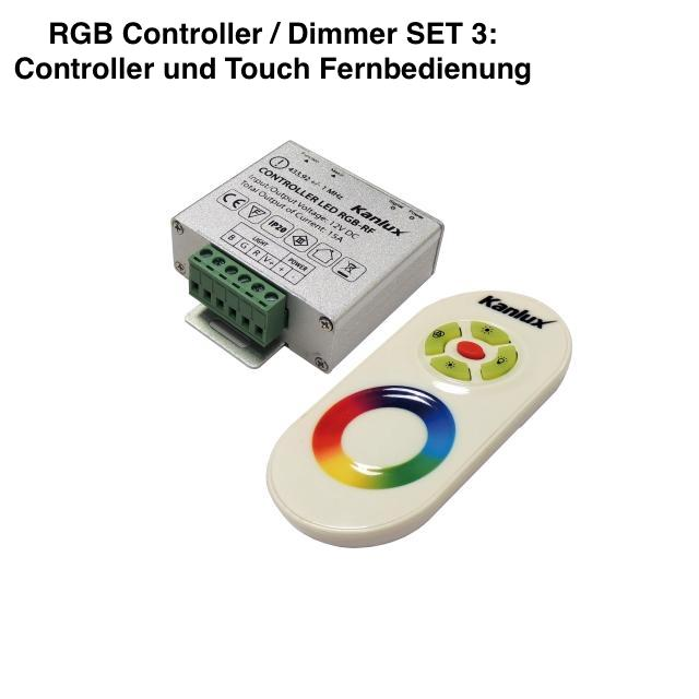 Funk RGB Controller für RGB LED Stripes mit TOUCH Fernbedienung
