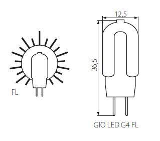 Abmessungen LED G4 12V