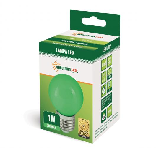 Grüne 1W LED Birne E27