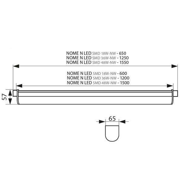 LED Linienleuchte mit Durchgangsverbindung