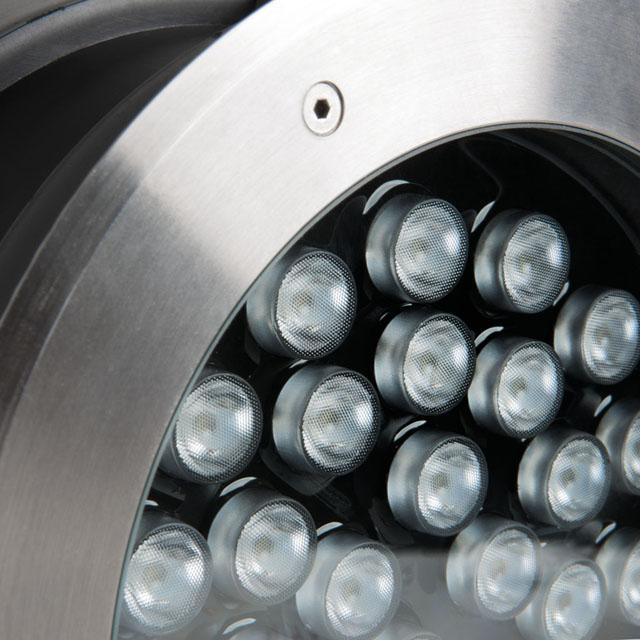 Bodeneinbaustrahler LED rund