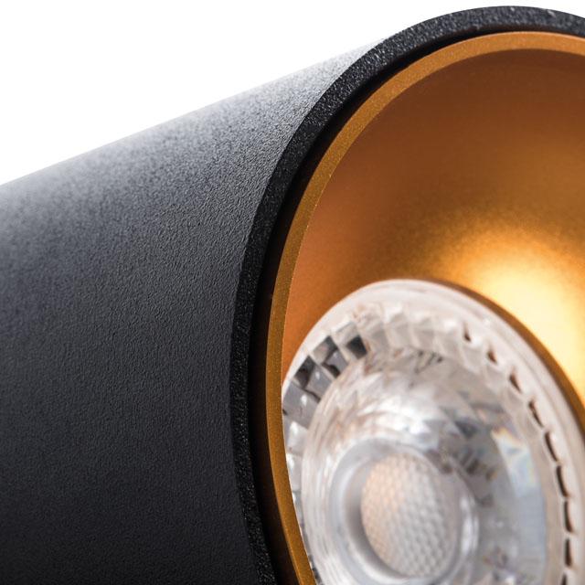 Deckenleuchte schwarz gold