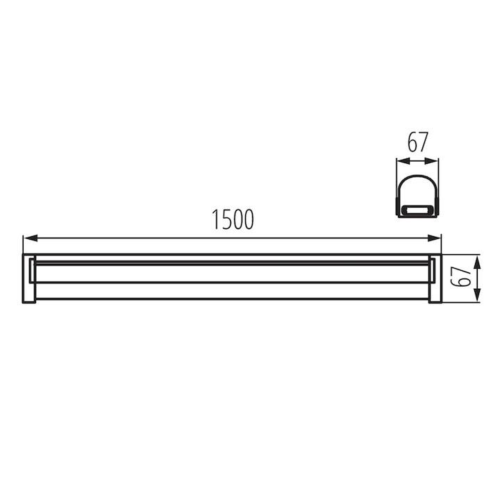 Abmessungen LED Feuchtraumleuchte IP65 IK08