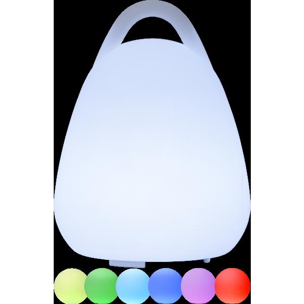 LED Lampe in wechselnden Lichtfarben RGB und weiß
