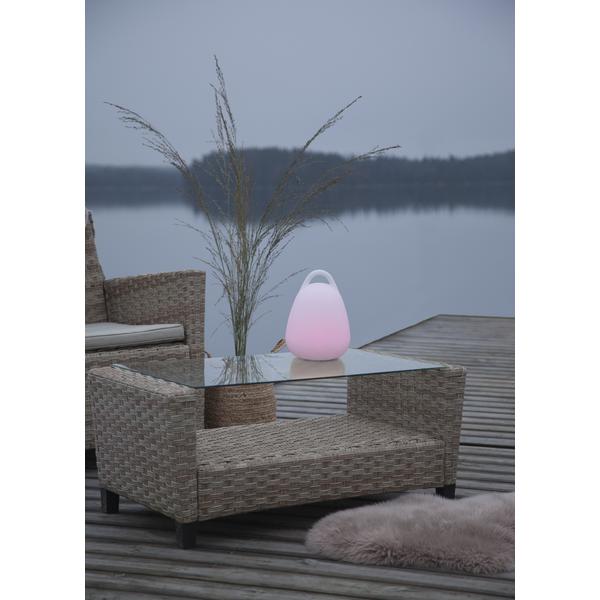 Lampe in Pastellfarben für draußen IP44