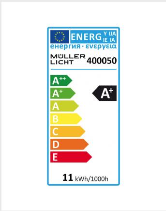 Energielabel E27 Kugel dimmmbar warmweiss
