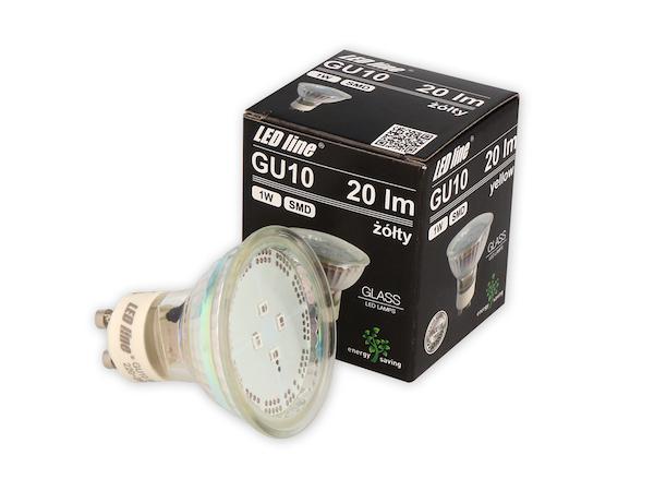 LED Strahler gelb GU10 230V
