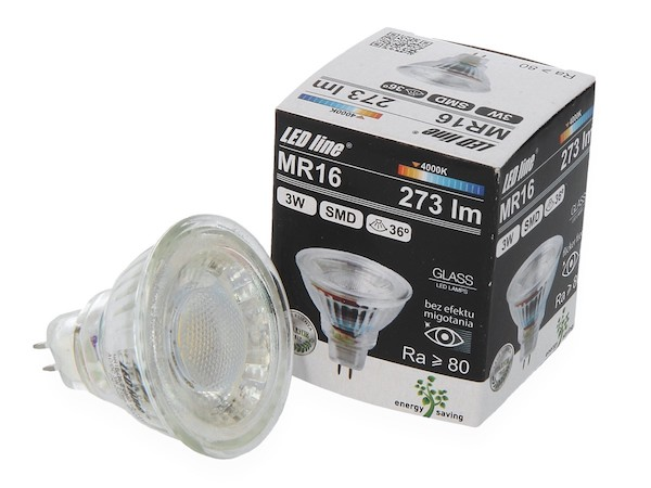 MR16 LED 12V (10V - 14V) 3W 4000K neutralweiss
