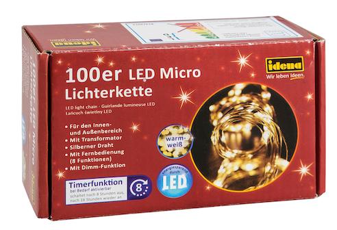 100er Micro Lichterkette warmweiss