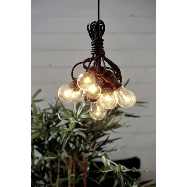 Lichterkette 5m mit 10 LED für Innen & Außen