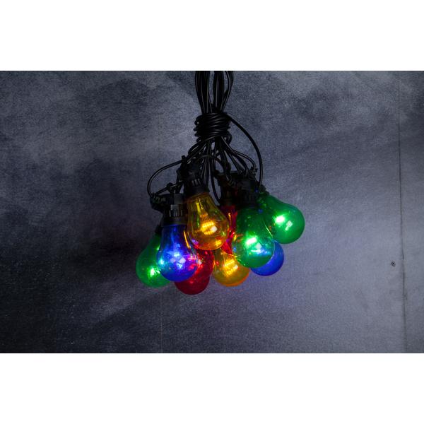Party Lichterkette bunt mit Haken