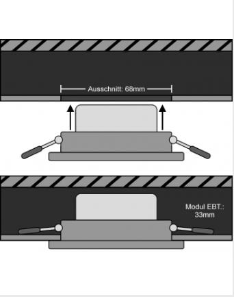 Einbautiefe LED COB Modul
