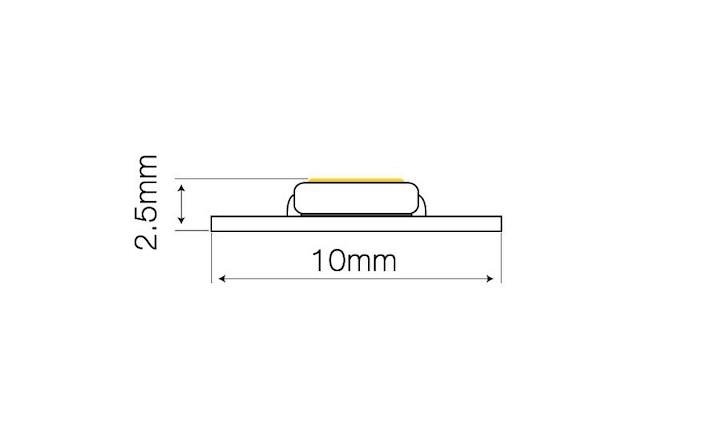 10mm Breite und 2,5mm Stärke