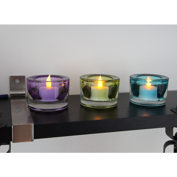 6 LED Teelichter flackernd warmweiß