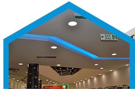 Helles LED Unterputz Deckenpanel 1350 Lumen