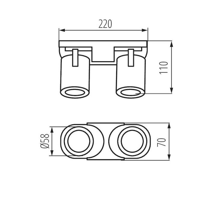 Abmessungen Wandleuchte LED GU10