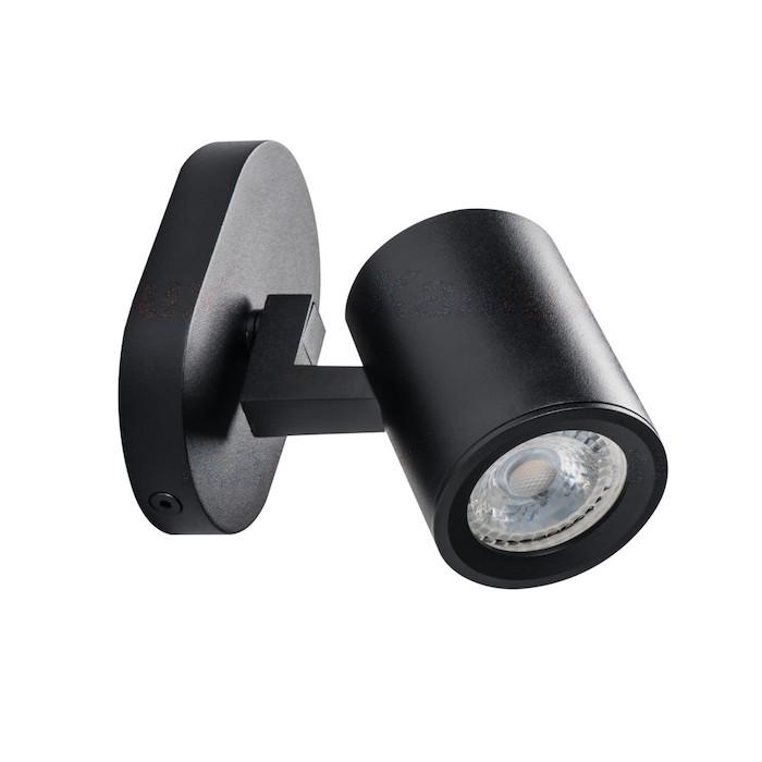 LED Deckenleuchte schwarz einflammig GU10