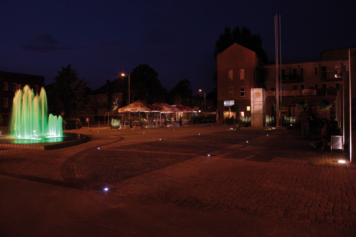Moderne Bodeneinbaustrahler LED