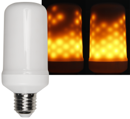 LED Flammen Lampe E27 ultra warmweiß
