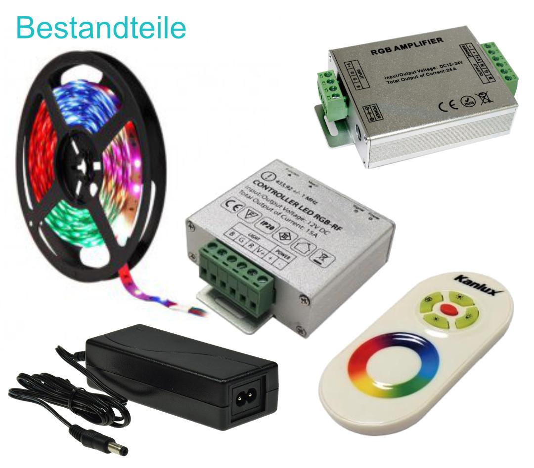 10 Meter RGB LED Set Funk