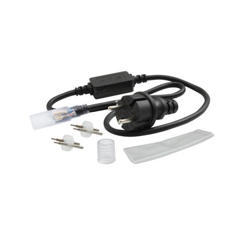 LED Lichtschlauch Anschlusskabel Set mit Endkappe