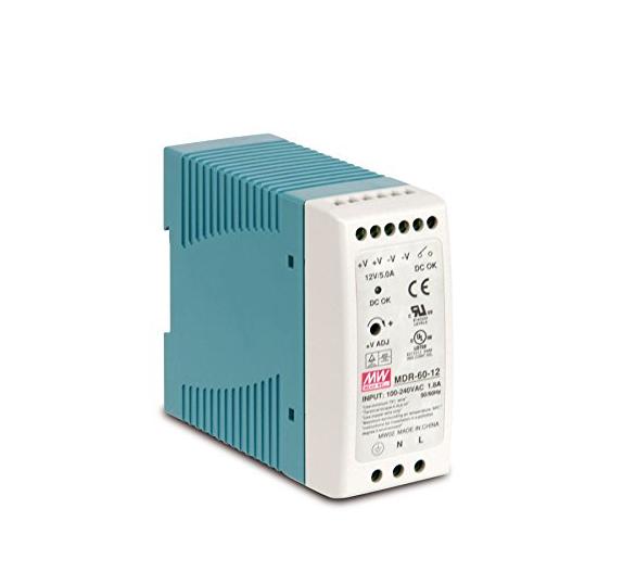 MeanWell® MDR-60-12 LED Schaltnetzteil Hutschiene 60W vorne